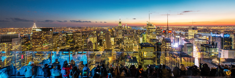 Pano of NYC as seen from the 70th floor on Top of the Rock. 5 image stitch = 95megapixels