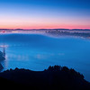 GGB Foggy Sunrise (2011-09-18) : Foggy sunrise at the Golden Gate Bridge