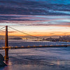 GGB Sunrise (2012-11-03) : A beautiful sunrise of the Golden Gate Bridge from Hawk Hill