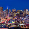 Potrero Hill (2012-12-24) : Photos of San Francisco skyline taken from 19th St and Texas St in Potrero Hill