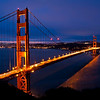 Golden Gate Bridge (2010-04-02) : Photos of the morning sunrise from the Golden Gate Bridge, taken on the Marin Headlands side