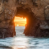 Pfeiffer Beach (2013-01-17) : Photos of the Pfeiffer Arch (Keyhole Arch) in Big Sur