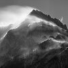 6 second view of Mt. Williamson showing the snow blowing all over
